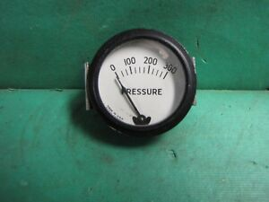 Rochester White Face Oil Pressure Gauge Vintage