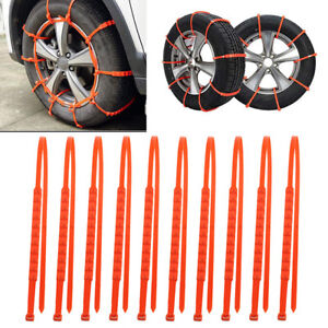 Car Truck Snow Anti Skid Wheel Tire Chains Universal Fit Tyre Width 175 295
