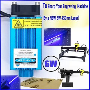 Pwm Laser Engraving Module focusable 450nm 6w High Power Etcher Laser
