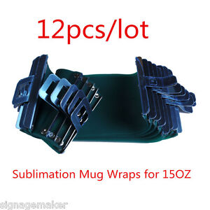 12pcs Sublimation Silicone 3d Rubber Mug Wrap Cup Clamps For 15oz Conical Mugs