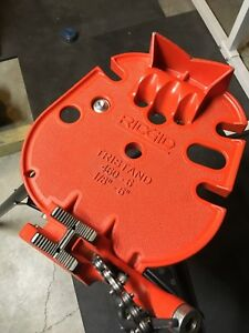 Ridgid Tristand 460 6 Portable Pipe Vice Gently Used Heavy Duty