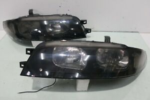 Jdm Nissan Skyline R33 Gts Gtst Black 1 Pair Headlights Lamps Lights Oem 93 98