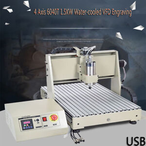 4 Axis Usb 6040 Router Engraver Engraving Milling Carving Machine 1500w Vfd Top