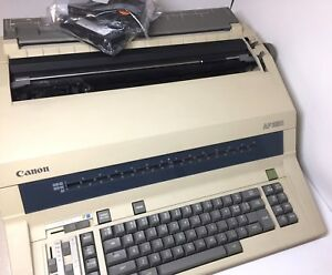 Canon Ap 250 Electronic Typewriter working With 2 Extra Ribbons