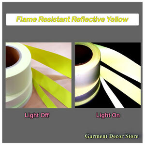 F yellow Reflective Fr Sew On Fabric Flame Resistant Reflective For Work Wear
