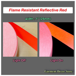 F red Reflective Fr Sew On Fabric Flame Resistant Reflective For Work Wear