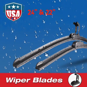 24 22 Premium Hybrid Silicone Windshield Wiper Blades High Quality J Hook Us