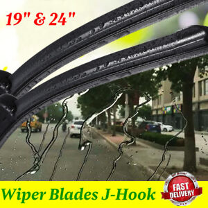 24 19 Premium Hybrid Silicone Windshield Wiper Blades High Quality J Hook Us