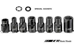8pcs 1 2 dr Special Sockets Set F h