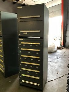Stanley Vidmar Model 340 And 175 Double Stack 9 drawers