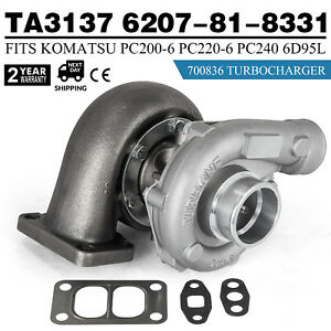 Ty Turbo Charger 6207 81 8331 700836 For Komatsu Pc200 6 6d95l Engine Cheap
