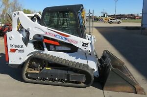 2018 Bobcat T590 Enclosed Cab 200 Hours Skid Steer Loader Rubber Tracks