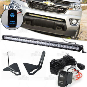 Fit 15 19 Gmc Canyon Chevy Colorado Z71 Zr2 Bumper 31 Led Light Bar Mount Kit