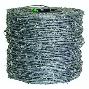 1 320 Ft Barbed Wire Roll Electric Fence Gate Galvanized High tensile Chain link