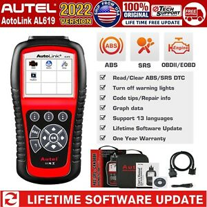 Autel Al619 Auto Obd2 Can Engine Diagnostic Scan Tool Code Reader Abs Srs Airbag