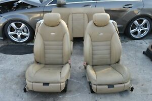 2008 W216 Mercedes Cl63 Cl550 Amg Front And Rear Seats Beige Leather Set