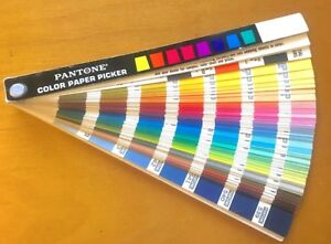 Vintage 1970 Pantone Color Paper Picker Swatches Guide