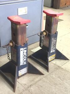 2 Lincoln 5 Ton 10 000 Lbs Capacity Jack Stands Heavy Duty Auto Automotive Shop