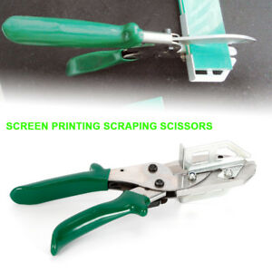 Squeegee Clipping Tool Scissor Equipment chrome Plating rubber Handle Titanium A