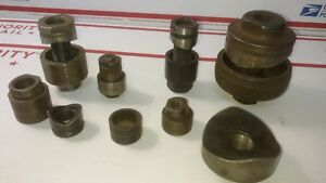 Lot Of Punches Dies And Draw Studs mostly Greenlee