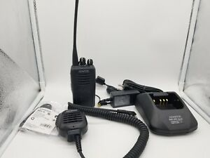 Kenwood Nx 320 used Uhf Portable Radio And Charger Bundle
