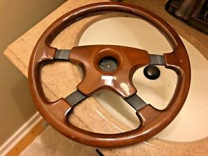 Vintage Mercedes Momo Mahogany Steering Wheel Made In Italy 9 87