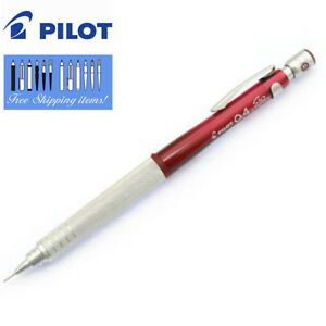 Pilot Drafting Pen S10 Transparent Red Mechanical Pencil 0 4mm Lead From Japan