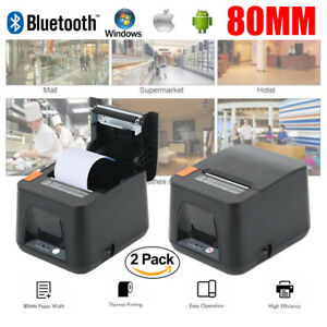 2x Usb Thermal Receipt Printer 80mm Mini Portable Label Printer Esc pos Print Ma