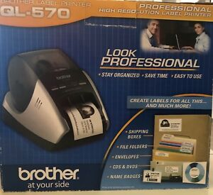 Brother Ql 570 Professional High Resolution Usb Label Printer W Labels Cd New
