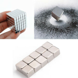 Tiny Neodymium Block Cube Magnet N50 Super Strong Rare Earth Magnets 4mm 9mm