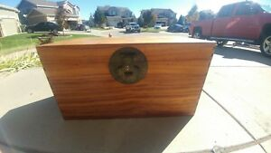 Vintage Chinese Export Camphor Wood Sea Chest Trunk