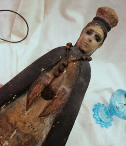 1700 S Era Carved Christian Icon Jesus Of Prauge Wood Statue From Spain Rare