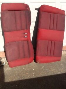94 95 Mustang Gt Convertible Red Tweed Rear Seats Upper And Lower