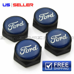 License Plate Bolts Screws Frame Caps Black For Ford Lb10 Us Seller