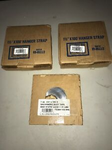 qty 3 Hanger Strap Galvanized Duct Tape 2x 1 1 2 X 100 1x 3 4 X 100