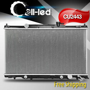Radiator For 02 06 Honda Cr V Base Ex Lx Element Dx L4 2 4l W Oil Cooler 2443