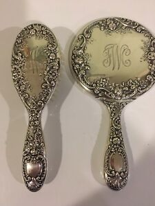Vintage Gorham Sterling Silver Vanity Set Mirror Brush