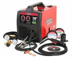 Feed Welder Lincoln Electric 120 volt 140 Amp Weld Pak 140 Hd Mig Flux Wire Fsh