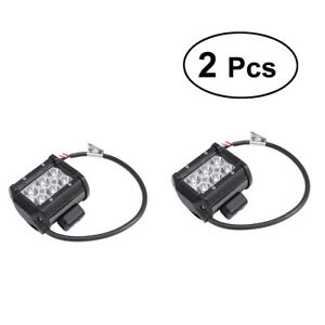 2pc 4wd 18w Offroad Spot Fog Cube Pods Led Work Light Bar For Jeep Atv Ute