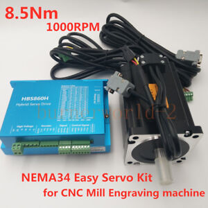 Nema34 86mm 8 5nm 1210oz in Dsp Closed Loop Hybrid Cnc Stepper Motor Drive Kit