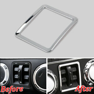 Chrome Window Lift Switch Button Cover Frame Trim For Jeep Wrangler 2007 2017