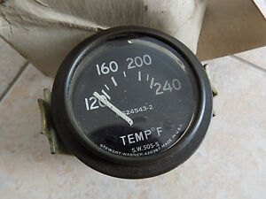 Military Jeep M38 M151 M37 240f Water Temp Gauge 24v Rb New Old Stock