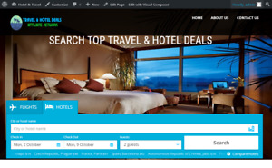 Travel Hotel Affiliate Website For Sale Hosting Included