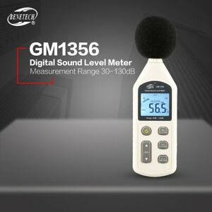 Gm1356 30 130db A c Digital Sound Level Meter Usb Noise Volume Decibel Tester F7