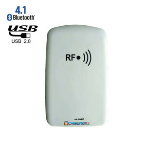 New Bluetooth Gen2 Uhf Rfid Desktop Reader Writer Built in Battery Usb Interface