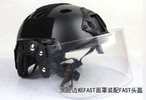 Tactical Face Shield Lens Mask Goggles For Mich FAST Helmet Paintball Airsoft