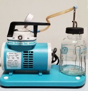 Brand New Schuco Vac 130 Aspirator Vacuum Pump With Glass Canister