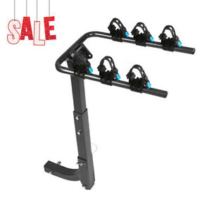 3 Bikes Holder Mount Rear Rack Foldable Car Carrier Truck Trailer Bicycle New