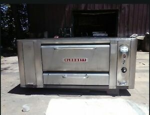 Blodgett 1000 High Btu Natural Deck Gas Double Pizza Oven With Brand New Stones