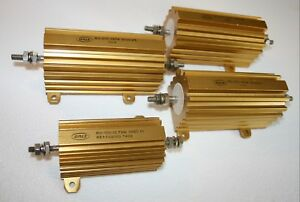 Dale Noninductive Wire wound Power Resistors Rh 100 1 Rh 250 3 Lot Of 4